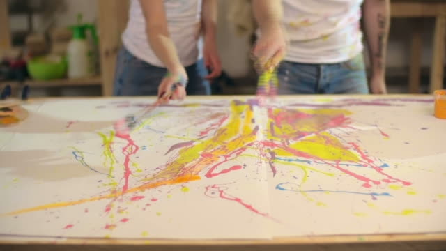 Process of Creating Art video