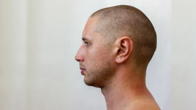 Process of growing a beard young caucasian man Process of growing a beard young caucasian man, timelapse beard stock videos & royalty-free footage