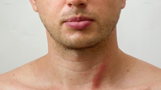 processen för växande skägg på framsidan av ung man - skägg bildbanksvideor och videomaterial från bakom kulisserna