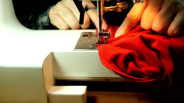 process of tailoring working. - sarta video stock e b–roll