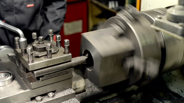 Processing of cast iron parts on a lathe. video