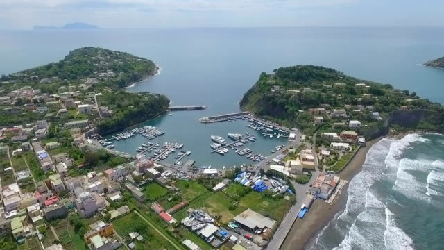 procida, italy aerial video - procida video stock e b–roll