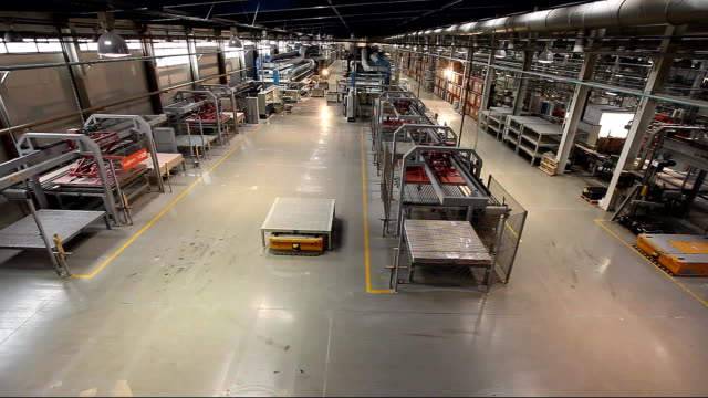 Production conveyor, conveyor line, conveyor belt, ceramic tile, kiln firin, Production of ceramic tiles video