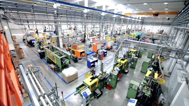 Production factory line video