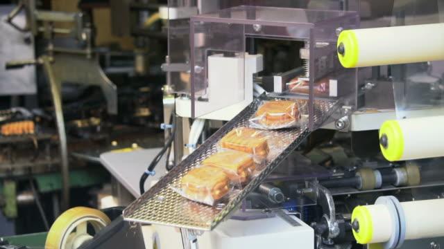 vídeos y material grabado en eventos de stock de línea de producción en fábrica de plantas procesadoras de alimentos - listo para comer