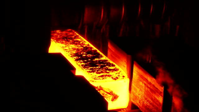Production of preform Molten metal melted in furnace at metallurgical plant metallurgy stock videos & royalty-free footage