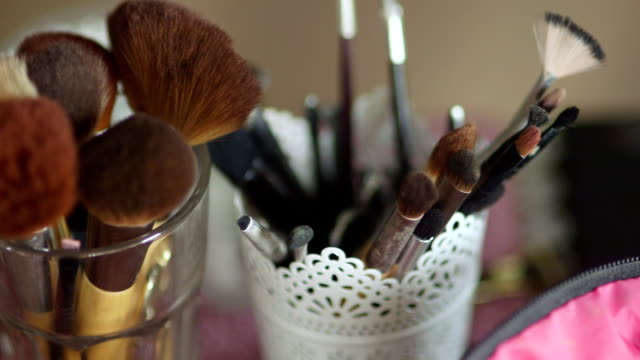 Professional Brushes For Makeup During Wedding video