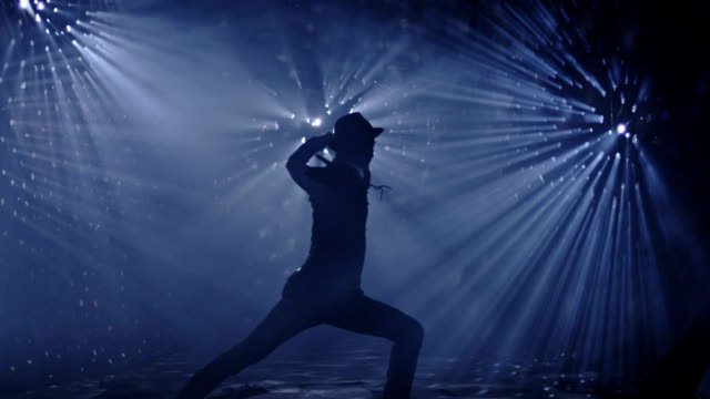 Professional dancer dancing on beautiful real background. Shot on RED EPIC Cinema Camera. video