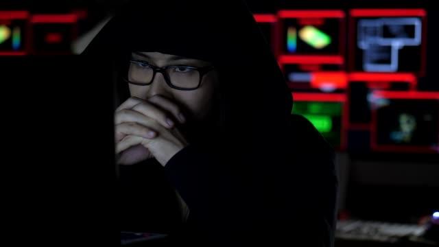 Professional hacker working