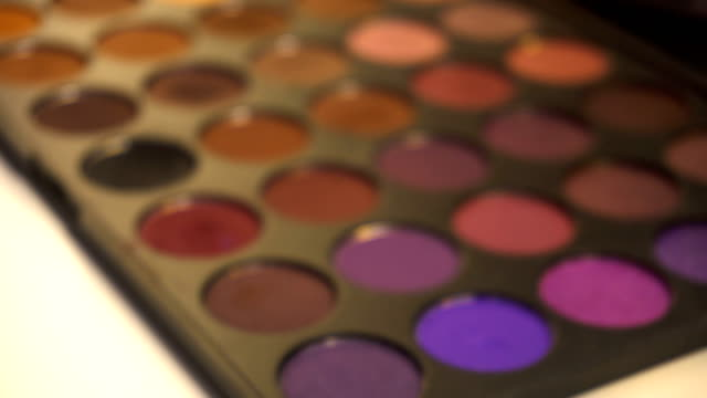 Professional makeup eyeshadows palette video