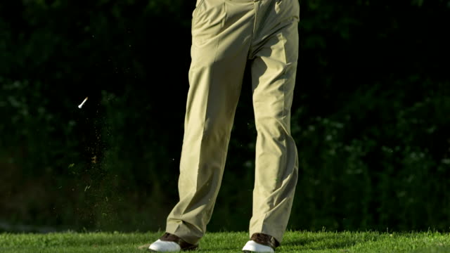 SLO MO TU Professional Senior Golfer Teeing Off video