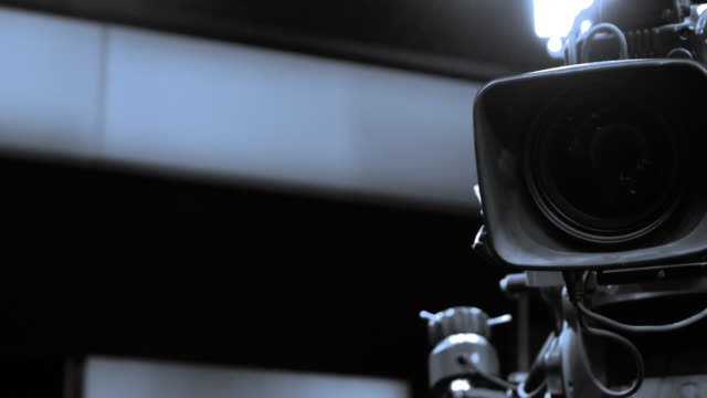 Professional shooting with a Camera Home Video Camera, Camera - Photographic Equipment, Lens - Optical Instrument, Movie Camera, Film studio stock videos & royalty-free footage