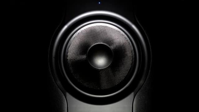 professional studio subwoofer speaker isolated video