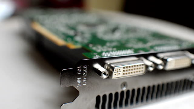Professional video card in modern workstation computer video