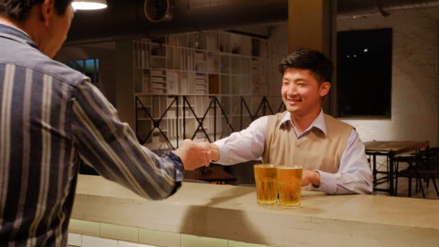 Professionals After Work in a Bar in Taiwan