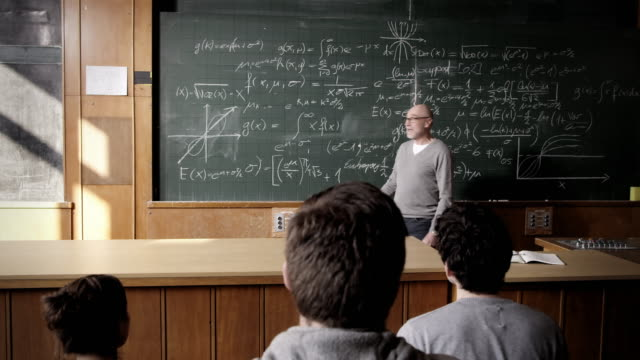 Professor talking to students video