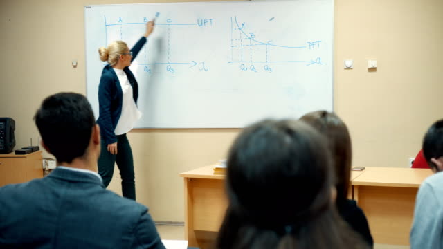 Professor teaching in the classroom video