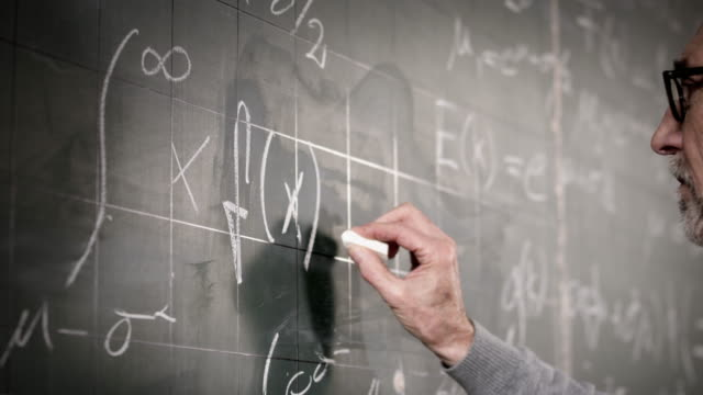 Professor writing on blackboard video