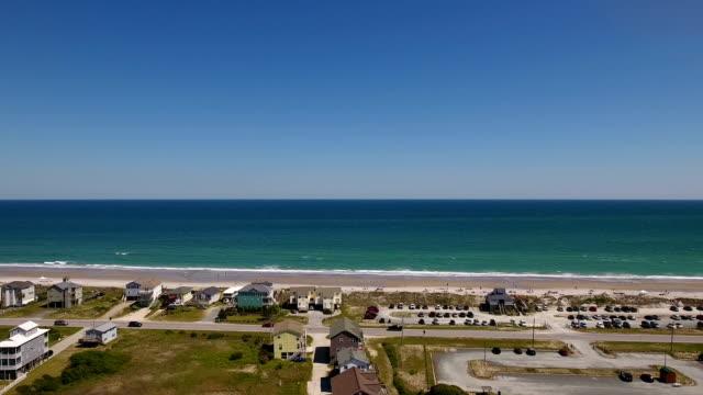 Profile Aerial Establishing Shot Topsail Island Beach video