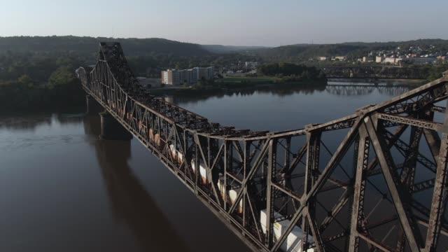 profilen flygfoto över järnvägsbro - appalachia bildbanksvideor och videomaterial från bakom kulisserna