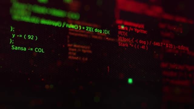 vídeos de stock, filmes e b-roll de 4k program code background (loopable) - peça de computador