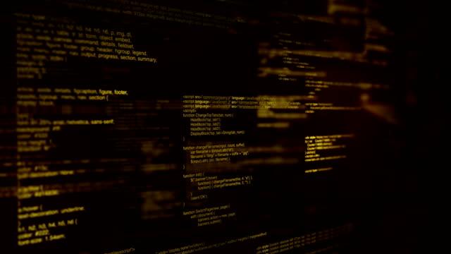 vídeos de stock, filmes e b-roll de código de programa - tag