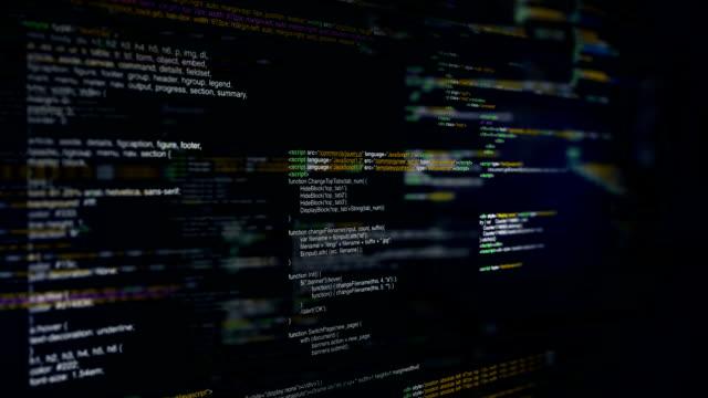 Program code Program code on black background coding stock videos & royalty-free footage