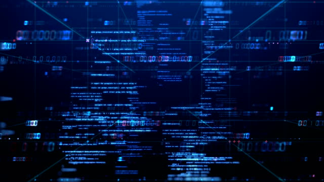 programming code abstract technology background footage - medium informacyjne filmów i materiałów b-roll