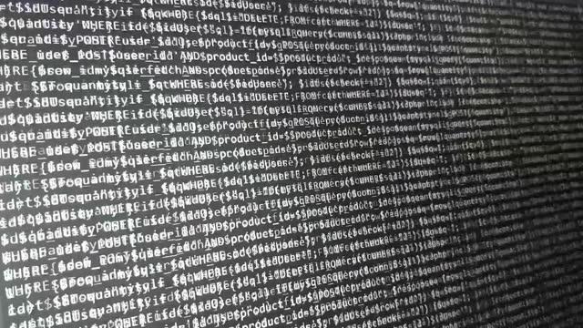 Programming code abstract technology background of software developer. Software development screen