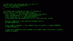 Programming Code Running Down A Old Computer Screen Terminal 4k Loop Stock  Video - Download Video Clip Now