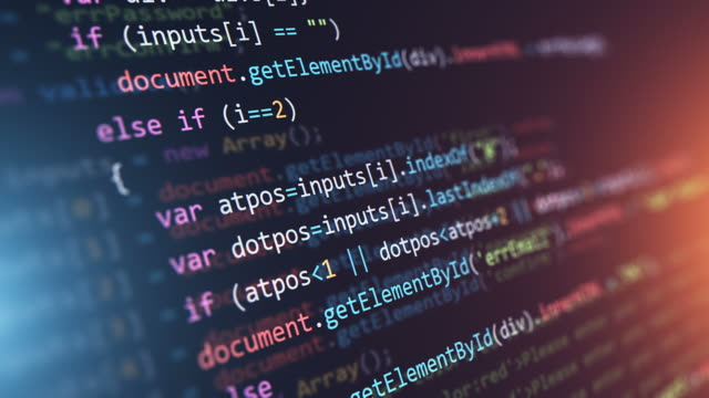 Video Programming source code abstract background