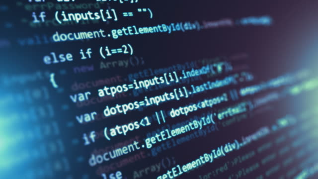 programlama kaynak kodu arka plan - www stok videoları ve detay görüntü çekimi
