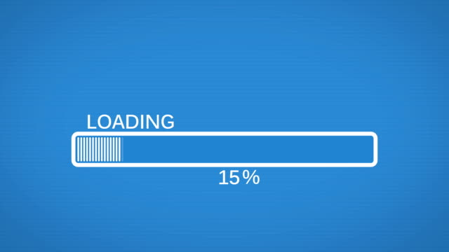 Progress bar animation video