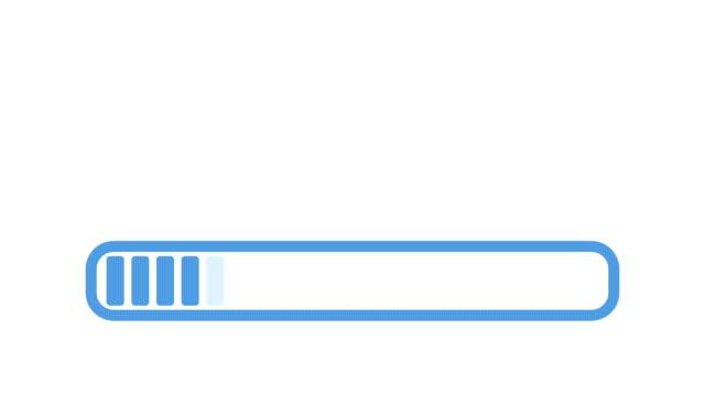 Progress bar animation video