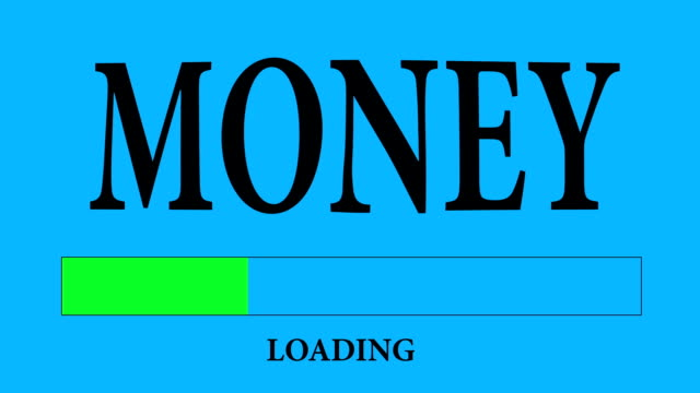 Progress Bar Loading with the text: Money.