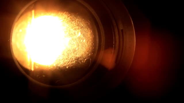 vidéos et rushes de projecteur de lumière - verre optique