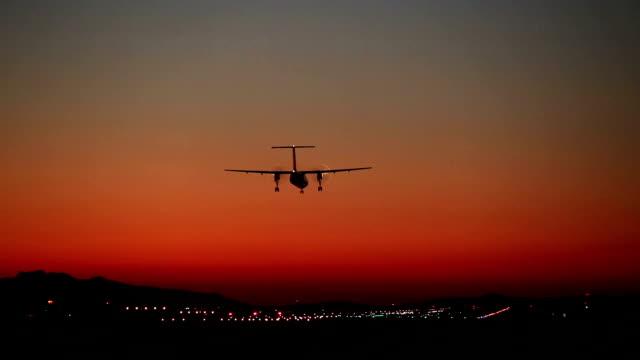 Propeller Airplane Landing Airport video
