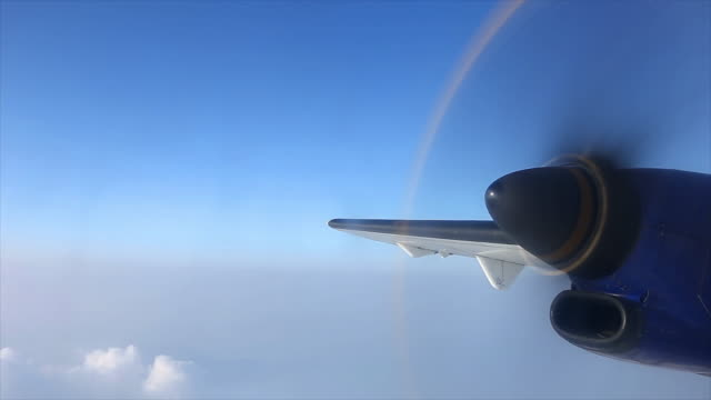 Propeller Plane Propeller Plane Flying Over Land. propeller airplane stock videos & royalty-free footage