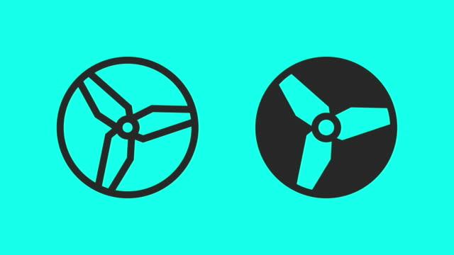 vidéos et rushes de hélice - vecteur animé - hélice pièce mécanique