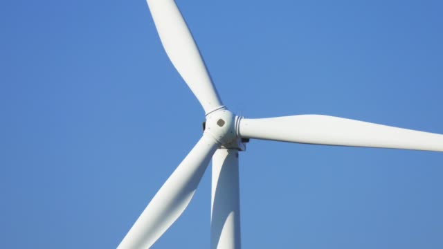 Propellers of windmills, close-up