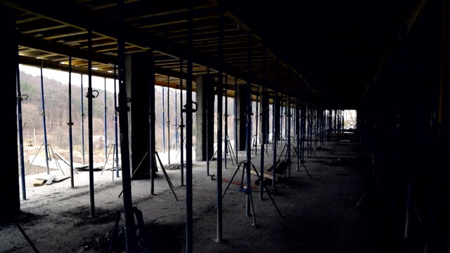 Props and construction on the construction. Unfinished floor on the construction site Props and construction on the construction. Unfinished floor on the construction site. prop stock videos & royalty-free footage
