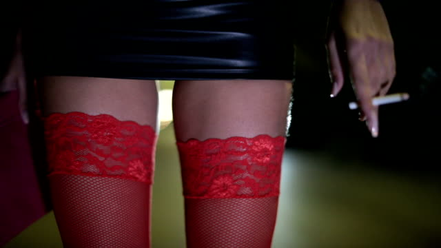 Prostitute in red stockings video