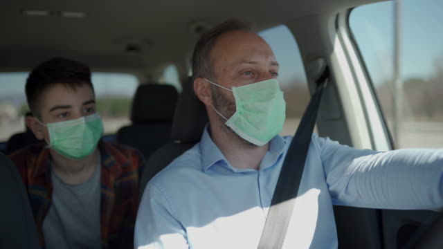protection against viruses - businessman covid mask video stock e b–roll