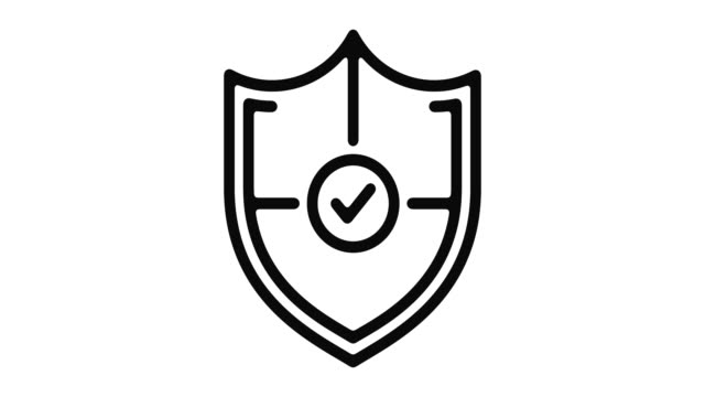 Protection Line Motion Graphic Protection line icon motion graphic animation with alpha channel. shield stock videos & royalty-free footage