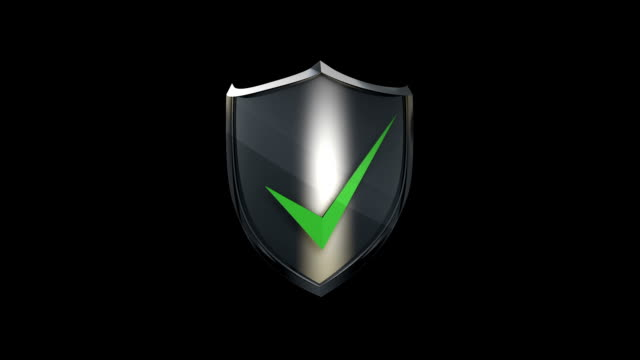 3D Protection Shield 3D Render Protection Shield Icon shield stock videos & royalty-free footage