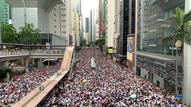 物議を醸す引渡法案に抗議する - 香港点の映像素材/bロール