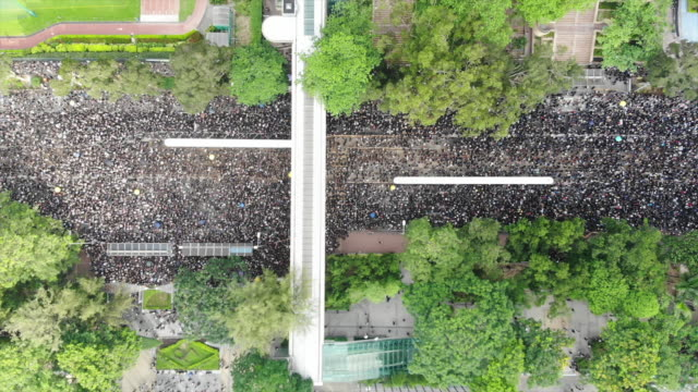 protest against controversial extradition bill - politica e governo video stock e b–roll