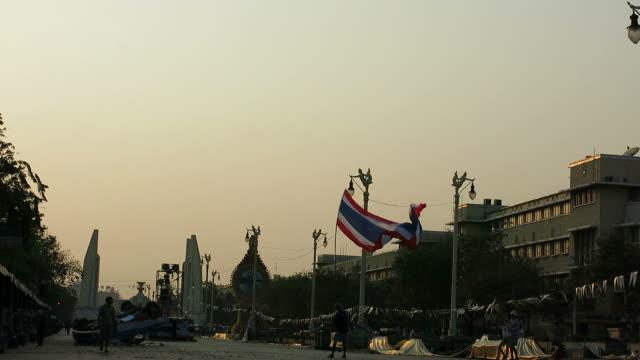 Protest area in Bangkok, Thailand video
