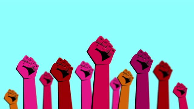 vidéos et rushes de animation d'art de protestation - démocratie