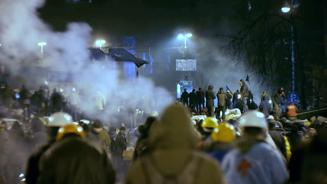 Protesters on barricades in Kiev - Euromaidan